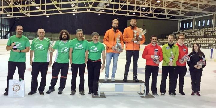 Harrikada Vitrogres segundo en el torneo de Vielha de Curling